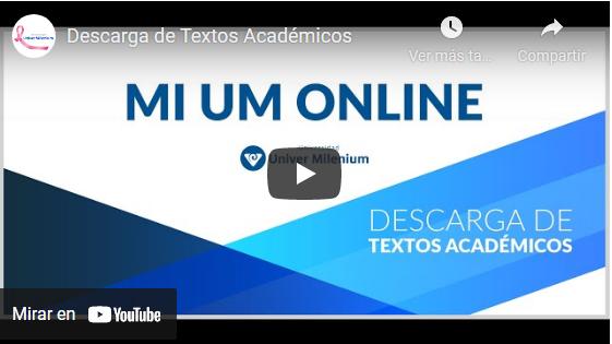 Video cómo descargar los textos académicos